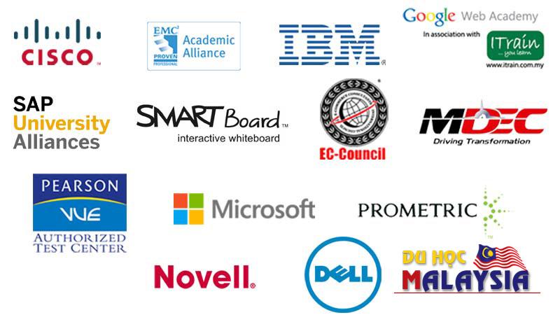 Các đối tác liên kết trong ngành Công nghệ thông tin của Đại học APU Malaysia